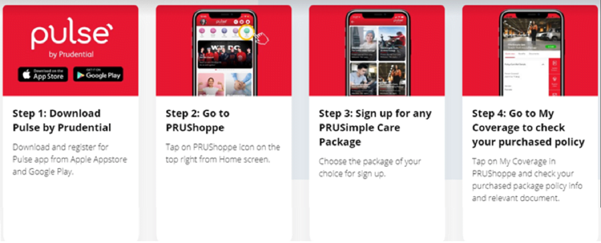 PRUSimple Care signup using PRUShoppe