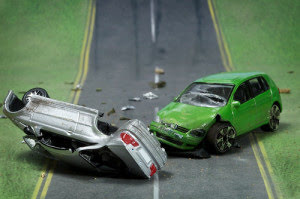 Toy cars involved in a nasty smash