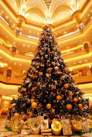Abu Dhabi Emirates Palace Christmas tree