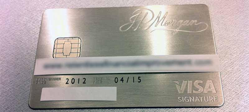 JP Morgan Palladium Card