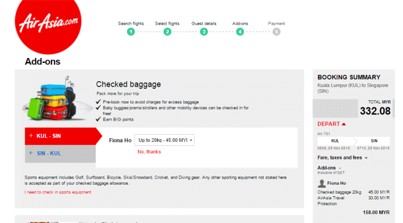airasia baggage fees