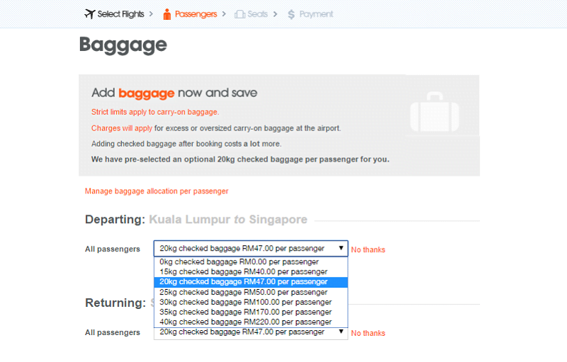 jetstar baggage fee