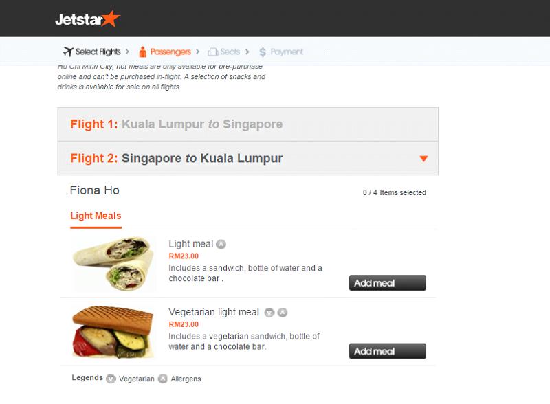 jetstar(meals)