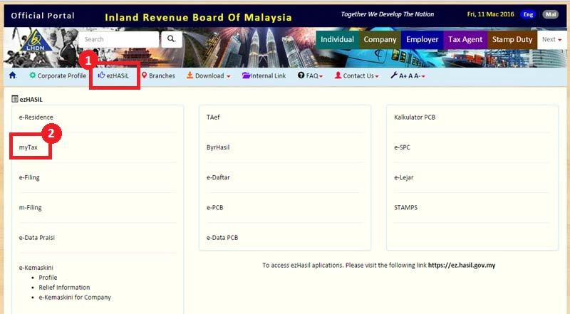 e-filing income tax malaysia