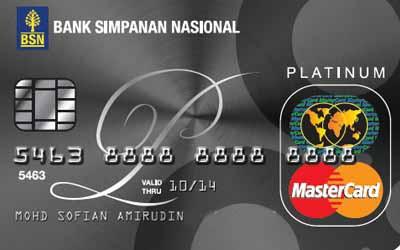 BSN Platinum MasterCard / Visa