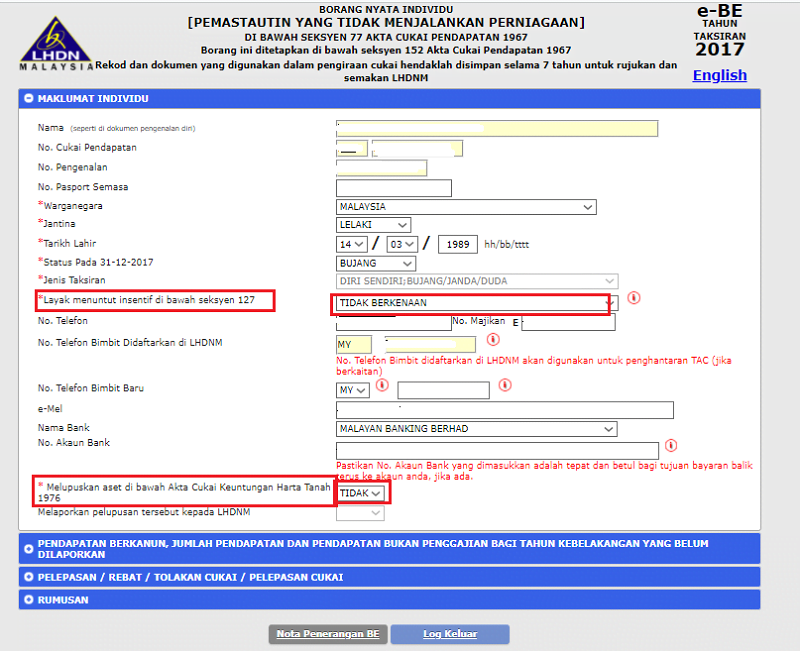 E Filing File Your Malaysia Income Tax Online Imoney