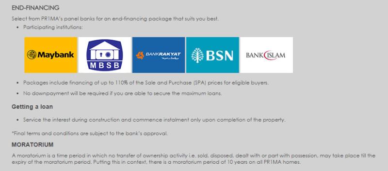 PR1MA end financing