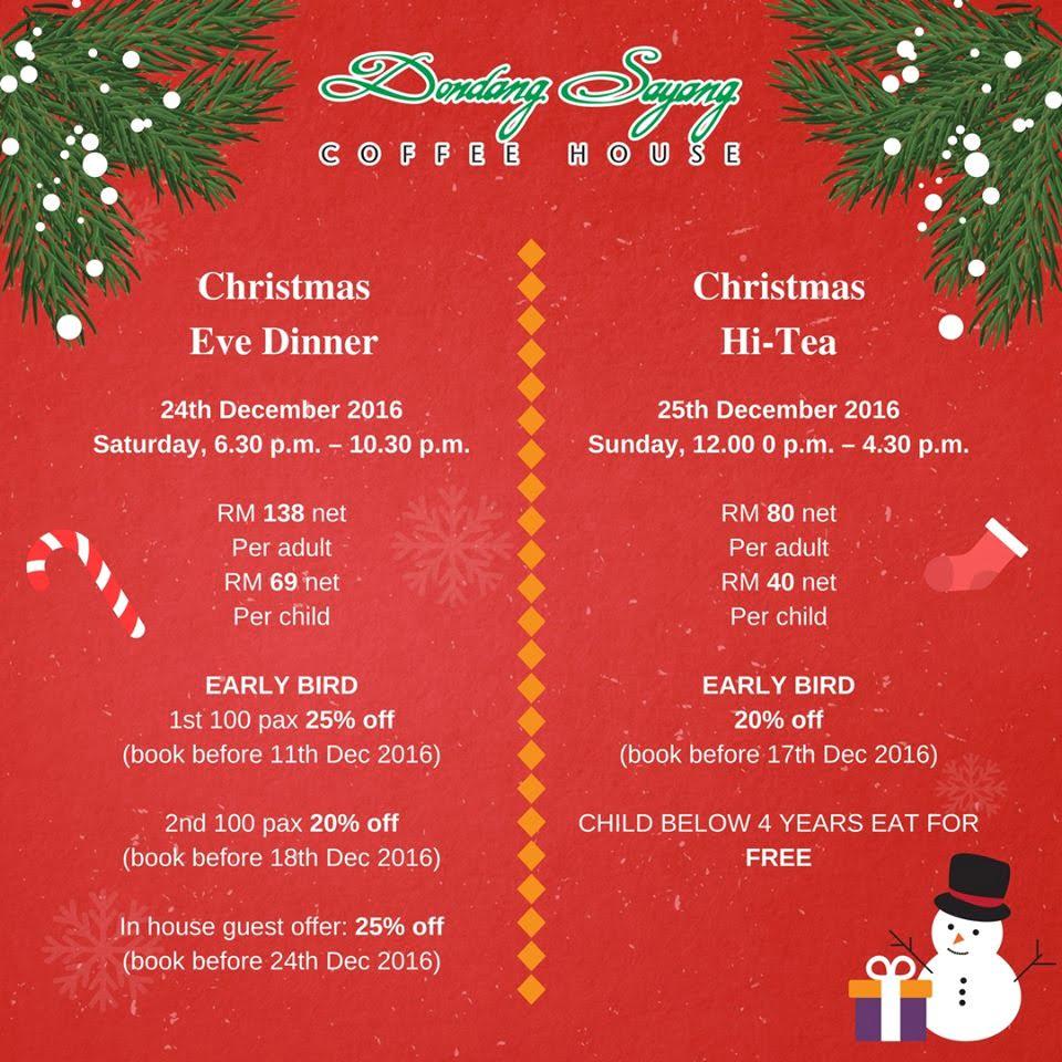 Christmas Eve Dinner Menu.2016 Christmas Eve Dinner Under Rm150 In Kuala Lumpur Selangor