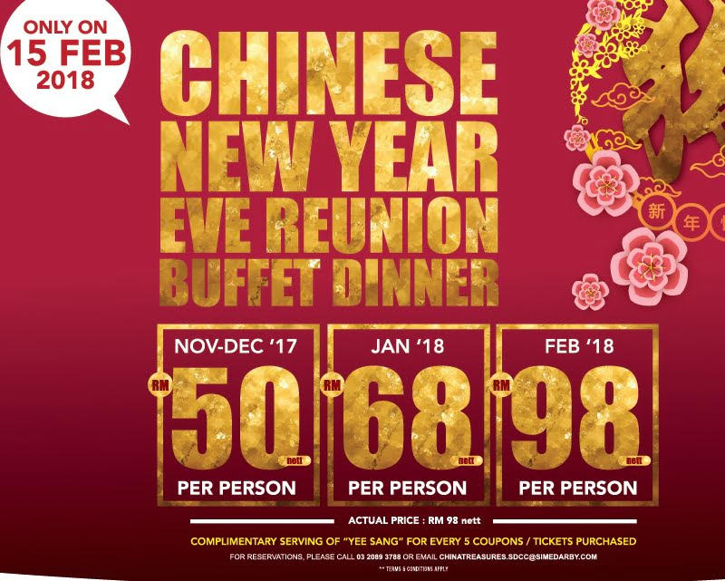 Special China Treasures Chinese New Year Eve International Buffet