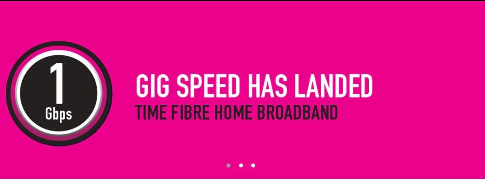 Time Introduces Malaysia's First Gigabit Broadband
