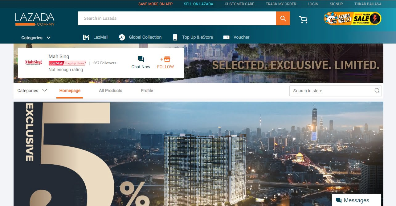 Lazada Partners With Mah Sing To Sell Houses