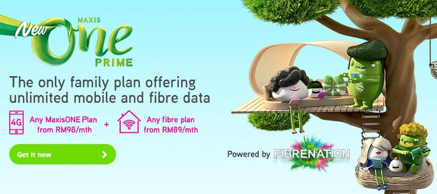 MaxisOne Prime Combines Mobile And Home Broadband In One Place