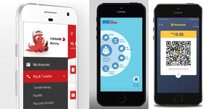 Mobile App Comparison: CIMB, Maybank and RHB