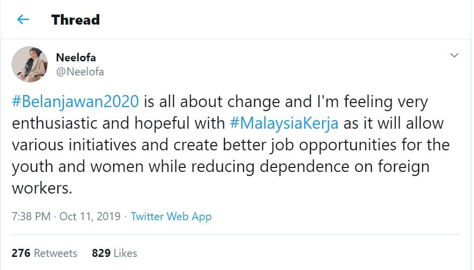 #MalaysiaKerja Budget2020