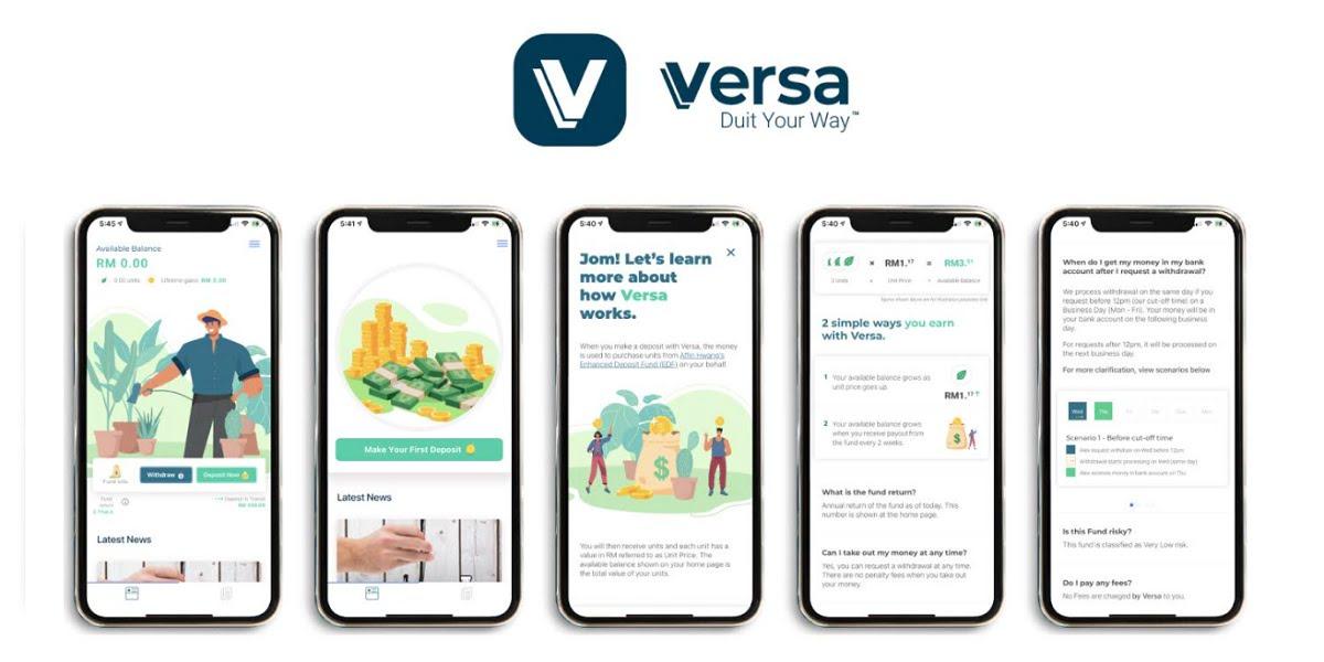 Versa digital cash management app