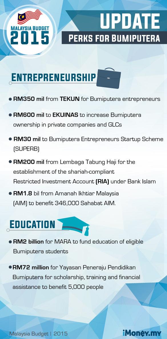 budget 2015 - bumiputera perks