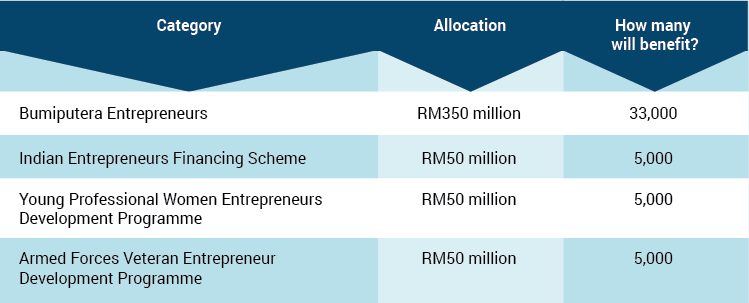 entrepreneur budget 2015 table